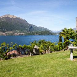 Vista mozzafiato dal giardino dell'Hotel Helvetia di Pescaù, Lezzeno